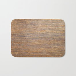 Rustic brown gold wood texture Bath Mat