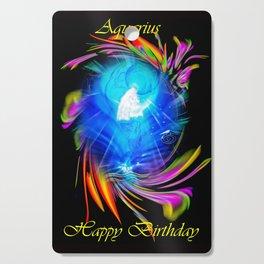 Zodiac sign Aquarius  Happy Birthday Cutting Board