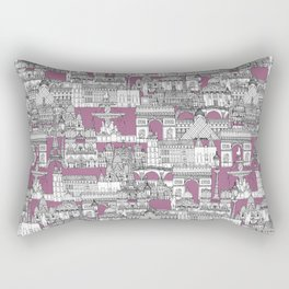 Paris toile raspberry Rectangular Pillow