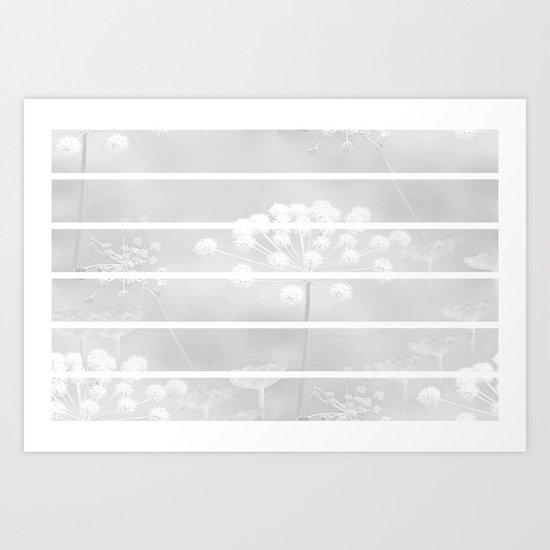 Grey And White Art Print
