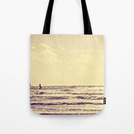 Kite Surfing, Newquay, Cornwall. Tote Bag