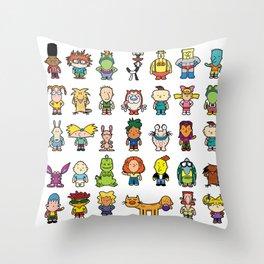 90s Nicktoons Throw Pillow