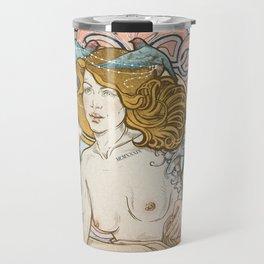 Mucha modern stylization Travel Mug