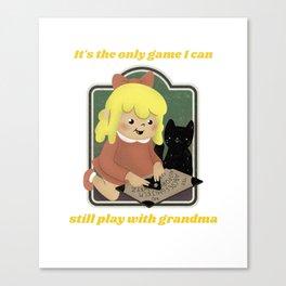 Retro Style Talking Spirit Board Dark Humor Canvas Print