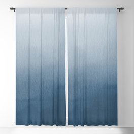 White & Blue Abstract Watercolor Blend Pairs To 2020 Color of the Year Chinese Porcelain PPG1160-6 Blackout Curtain