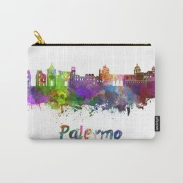 Palermo skyline in watercolor Carry-All Pouch