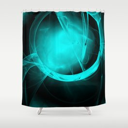 Through the glowing glass portal Shower Curtain