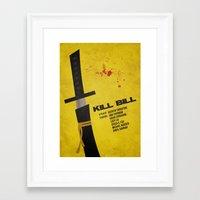 kill bill Framed Art Prints featuring Kill Bill by rkbr