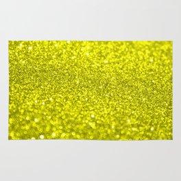 Bright Yellow Glitter Rug
