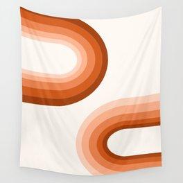 Sooky Sooky - retro minimal 70s style vibes rainbow minimalist 1970's color palette Wall Tapestry