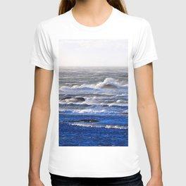 Wind Blown Stormy Seas T-shirt