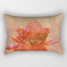 Red Ginger Flower Rectangular Pillow