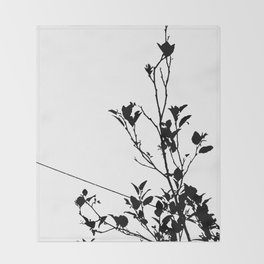 Botanical Contrast Throw Blanket