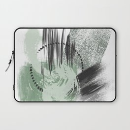 Mint Green Gray Black Abstract painting -2, Nirvana Decorative abstraction, Laptop Sleeve