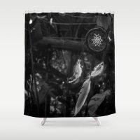 dream catcher Shower Curtains featuring Dream Catcher by Thiago Machado