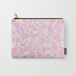 Shabby Chic pink damask Carry-All Pouch
