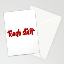 Tough stuff - vintage cute little text humor vintage typography Stationery Cards