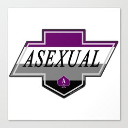 Identity Stamp: Asexual Canvas Print