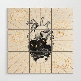 Desert Heart Inktober :: More Magick Wood Wall Art
