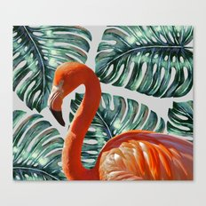 Flamingo Self Portrait #society6 #decor #buyart Canvas Print