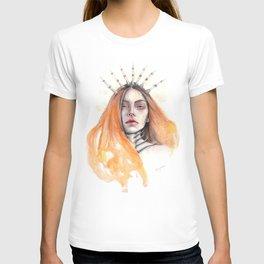 """""""Bones"""" Mixed Media Portrait Illustration T-shirt"""