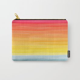 Sunset on the Ocean Minimalist Painting Carry-All Pouch