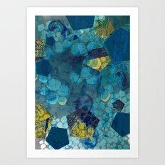 Fluid Geometric  Art Print