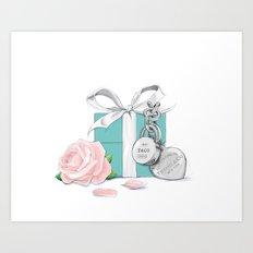 Tiffany Rose Art Print