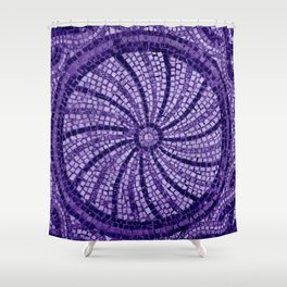 Ultra Violet Stone Tiles 18-3838 Shower Curtain