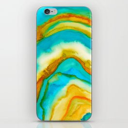 AGATE Inspired Watercolor Abstract 10 iPhone Skin