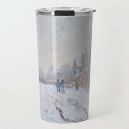 Snow Scene at Argenteuil by Claude Monet Travel Mug