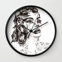evolution Wall Clocks featuring Evolution by LNNDESIGN