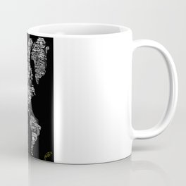 Passport Stamp Map Special Edition, Black and White Coffee Mug