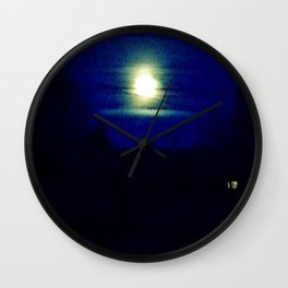 Morning sky blues Wall Clock