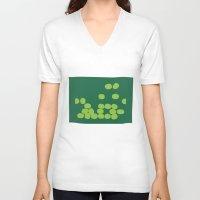 kiwi V-neck T-shirts featuring Kiwi by Mungo