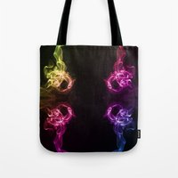 headphones Tote Bags featuring Headphones by Steve Purnell