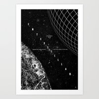 interstellar Art Prints featuring Interstellar by Amanda Mocci