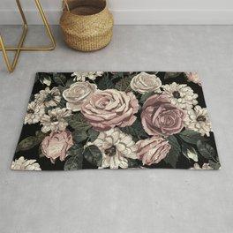 Rose Flower Pattern  Rug