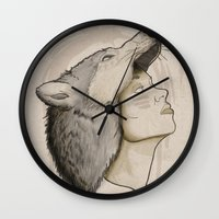 hunter Wall Clocks featuring Hunter by Fiction Design