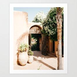 Morocco - design - decoration - arabic - africa - door - plants - green - print - art - travel Art Print