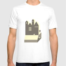 Small houses MEDIUM White Mens Fitted Tee