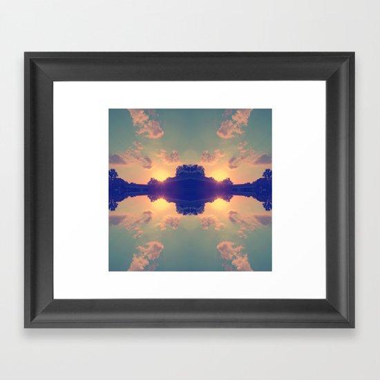 Multiple Sunsets  Framed Art Print