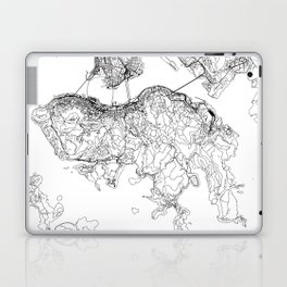 Hong Kong White Map Laptop & iPad Skin