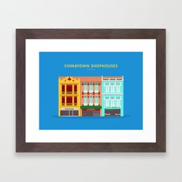 Chinatown Shophouses, Singapore [Building Singapore] Framed Art Print