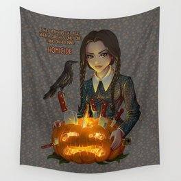 Wednesday Addams - Homicide Wall Tapestry