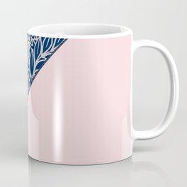 Blush pink navy blue hand drawn modern floral Coffee Mug