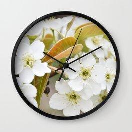Pear Blossoms Wall Clock