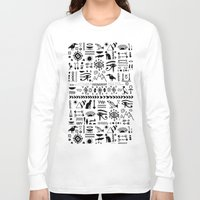 egyptian Long Sleeve T-shirts featuring Egyptian Pattern by Mad Love