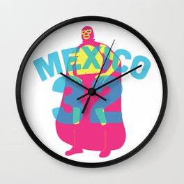 Mexican Wrestler Wall Clock