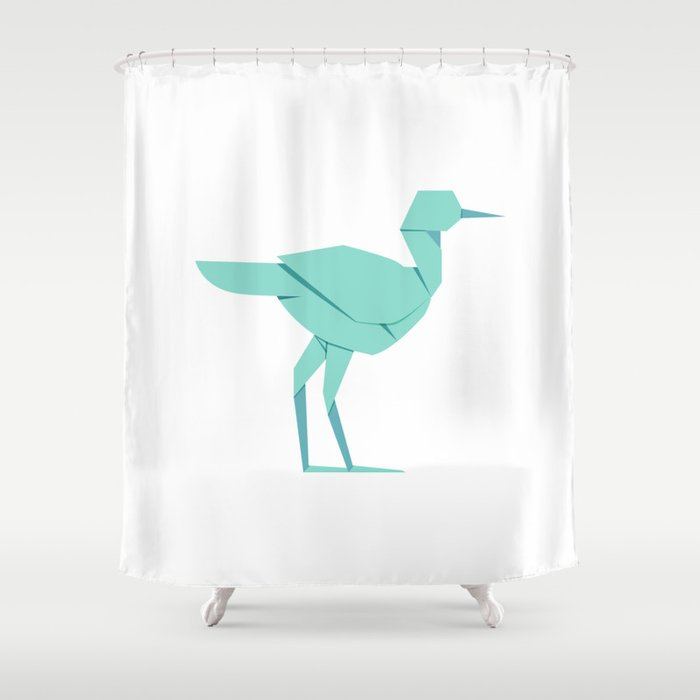 Origami stork shower curtain by staskhabarov society6 for Origami curtain